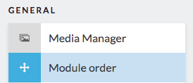 module order button in sidebar