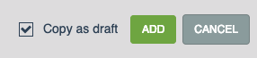 copy as draft checkbox