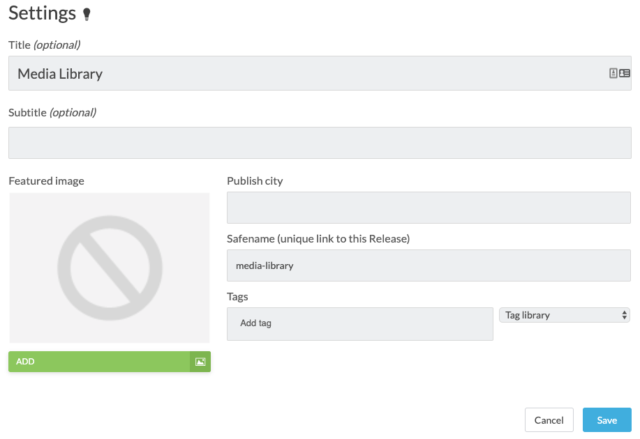 overview of media library settings